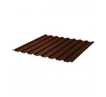 Профнастил С-8 ТУ 0,45 шоколад RAL 8017 1,2*2,0 м