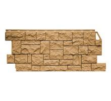 Фасадная панель Камень дикий песочный