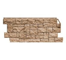Фасадная панель Камень дикий терракотовый