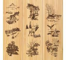 Панель МДФ Лесной пейзаж Дуб беленый 2,44*1,22*3
