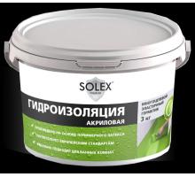 Гидроизоляция  акриловая 3кг SOLEX