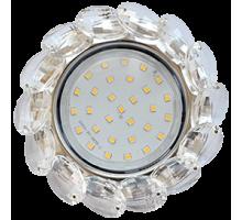 Светильник Ecola GX53 H4 5342 Круг с больш хруст прозр/хром FW53RVECB