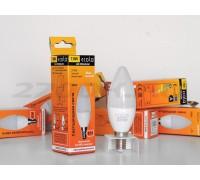 Лампа светодиодная Ecola Premium Е27 свеча 5W 4000F