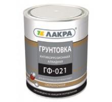 ГФ 021 грунт по металлу  красно-корич 1кг Лакра