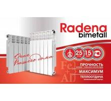 Радиатор биметалл RADENA 5секции 500мм высота Россия-Италия