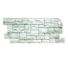 Фасадная панель Камень дикий жемчужный