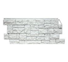Фасадная панель Камень дикий мелованный белый