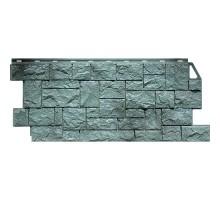 Фасадная панель Камень дикий серо-зеленый