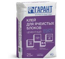 Клей для ячеистых блоков ГАРАНТ 25кг Гипсополимер