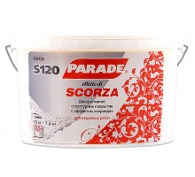 Декор. покр. с эф.короеда PARADE DECO S120 Scorza белый наружные работы 15кг