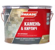 Лак для камня акрил на раств L40 PARADE 0.75л