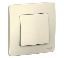 Выключатель 1CП б/п 10А IP20 молочный Бланка SE