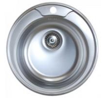 Мойка нерж. врезная D 49(410) круглая 0,6мм 3,5