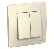 Выключатель 2CП б/п 10А IP20 молочный Бланка SE BL