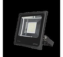 Прожектор светодиодный 30Вт 6500К 2100Лм IP65 черный 236*226*53 Gauss