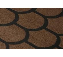 Черепица рулонная Бобровый хвост коричневый 8м2
