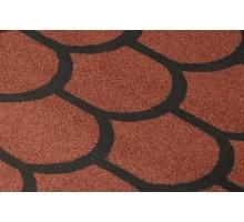 Черепица рулонная Бобровый хвост красный 8м2