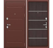 Дверь мет Groff Т2-204 Антик Медь / Wenge Crosscut