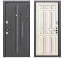 Дверь мет Groff Р2-215 Антик Серебро / П-25 Беленый Дуб