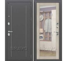 Дверь мет Groff Т2-220 Антик Серебро / Cappuccino Veralinga