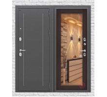 Дверь мет Groff Т2-220 Антик Серебро / Wenge Veralinga
