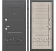 Дверь мет Groff Т2-221 Антик Серебро / Cappuccino Veralinga