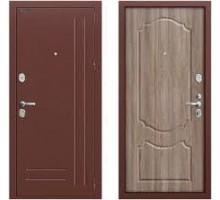 Дверь мет Groff Р2-210 Антик Медь / П-1 Темный Орех