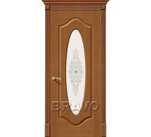 Дверь Аура Орех Ф-11 ПО СТ-Худ Ковров