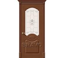 Дверь Селена Орех Ф-12 ПО СТ-Худ Ковров