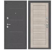 Дверь мет Porta S 104.П22 Антик Серебро / Cappuccino Veralinga