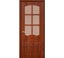 Дверь Альфа ПО стекло итальянский орех Ковров