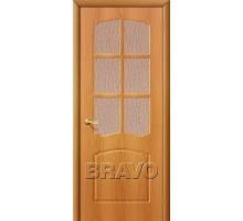 Дверь Альфа ПО стекло миланский орех Ковров