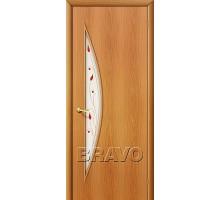 Дверь 4С5П худож.стекло миланский орех Ковров