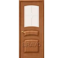 Дверь М16 ПО Светлый лак СТ-Кристалл-2 белое