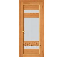 Дверь Вега-2 светл орех ПО СТ-Кризет белое