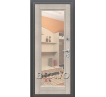 Дверь мет ДС Porta S-2 104/П61 Ан. Сереб/Cap/ V R 88/98 Лев.пр.