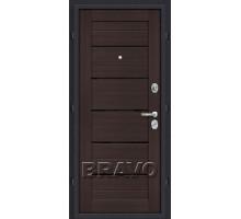 Дверь мет Оптим Техно Wenge Ver 205/88,96 пр.,лев.Лунный камень