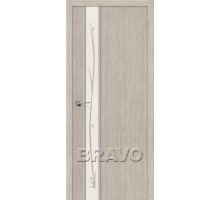 Дверь 3DG Глейс-1 Twig Cappuccino