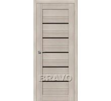 Дверь ЭКО Порта-22  Cappuccino Veralinga Black Star Ковров