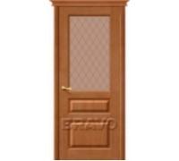 """Дверь М5 Т-05 (Светлый Лак) ПО СТ-""""Кристалл"""""""
