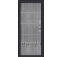 Дверь мет Оптим Лайн Grey Crosscut 205/88,96 пр., лев. Лунный камень