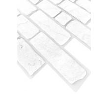Панели ПВХ Кирпич Ретро бел 0,4мм 951*495 №229рб