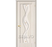 Дверь Вираж ПО стекло белый дуб Ковров
