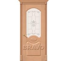 Дверь Селена Дуб Ф-01 ПО СТ-Худ Ковров
