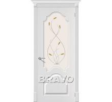 Дверь Скинни-33 П-24 (Белая) White О