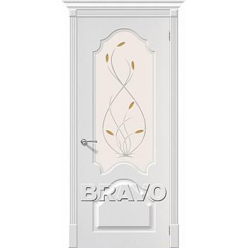 Сарапул Ижевск Дверь Скинни-33 П-24 (Белая) White О  купить цена за штуку недорого каталог в наличии сайт ассортимент размеры