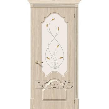 Сарапул Ижевск Дверь Скинни-33 П-30 (БелДуб) White О  купить цена за штуку недорого каталог в наличии сайт ассортимент размеры