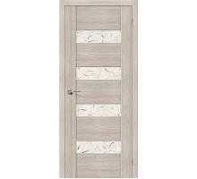 Дверь ЭКО VM4 Cappuccino Veralinga Silver Art