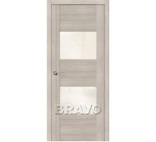 Дверь ЭКО  VG2 Cappuccino Veralinga White Pearl