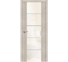 Дверь ЭКО V4 Cappuccino Veralinga White Pearl